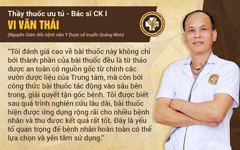Bác sĩ Vi Văn Thái đánh giá về Tiêu xoang linh dược thang