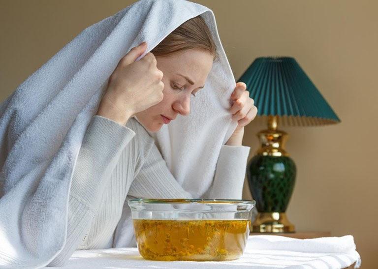 Hơi nóng từ nước xông có thể cải thiện tình trạng nghẹt mũi hiệu quả