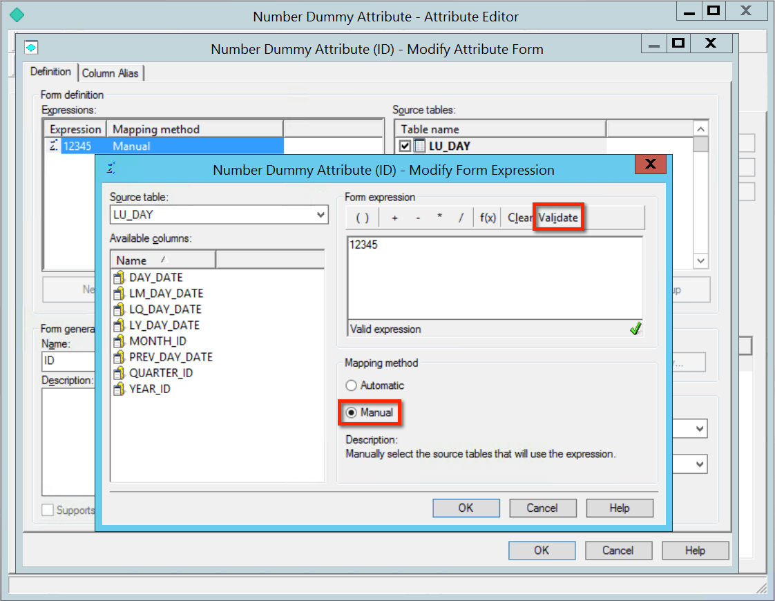 Dummy MicroStrategy attribute with a fixed number value