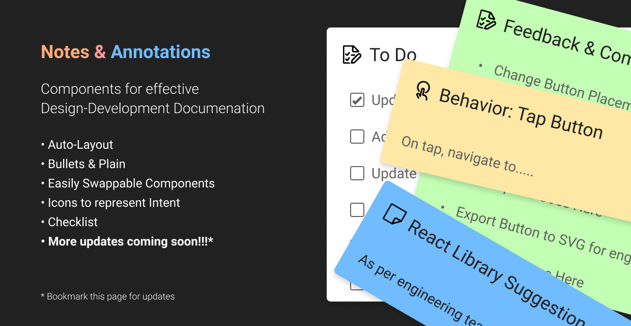 Notes & Annotations Figma File and Library