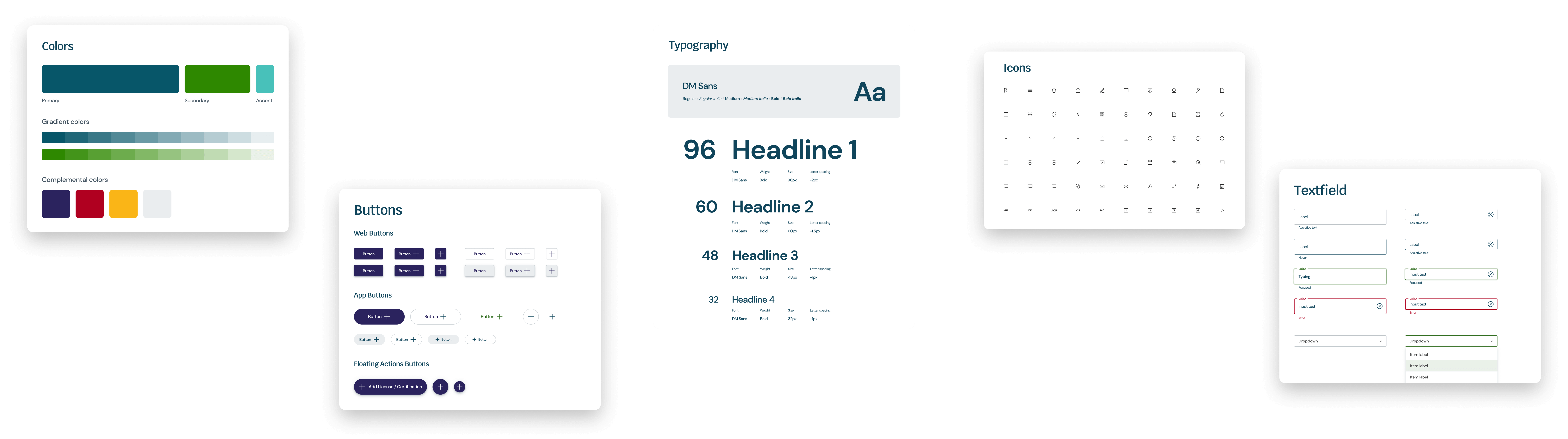 LIFT UX / UI design agency, created a Design System for 11,000 Healthcare Organizations visual cohesion to a suite of expanding product lines.