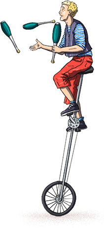 Illustration of unicycler lucas