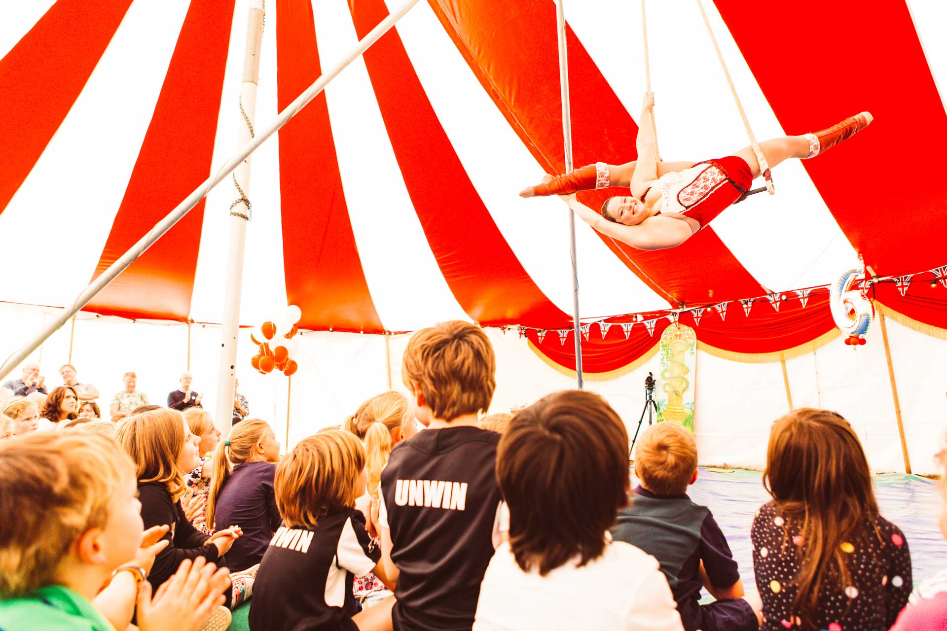 Performing a circus act
