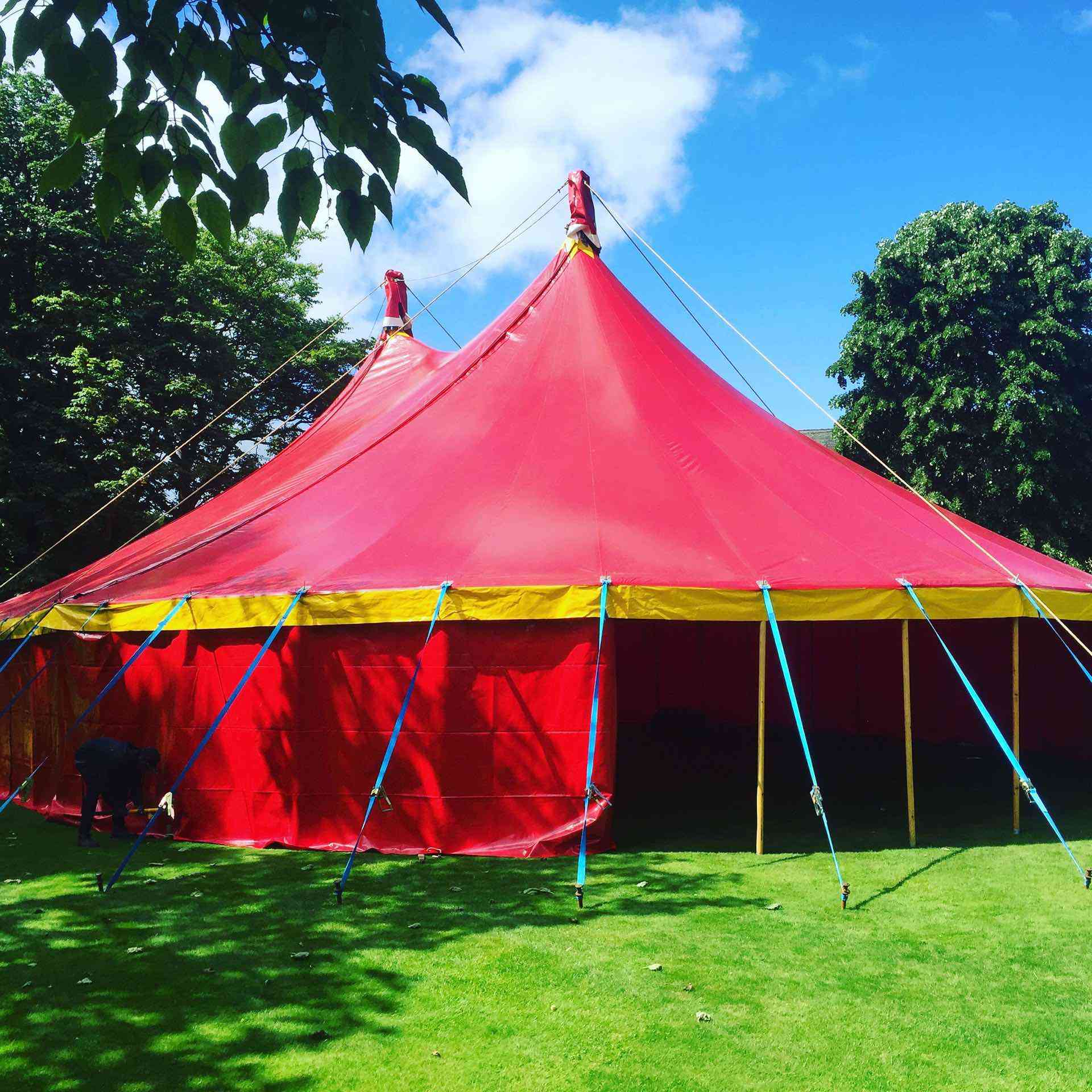 Circus Tent on summers day
