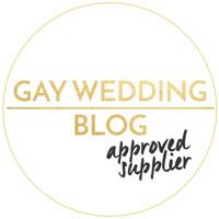 Gay Wedding Blog Approved Supplier for same -sex ,LGBTQ+ weddings.