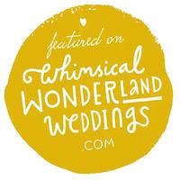 Whimsical Wonderland Weddings blog.