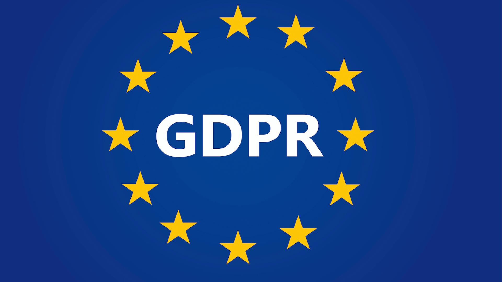 GDPR Logo with European flag