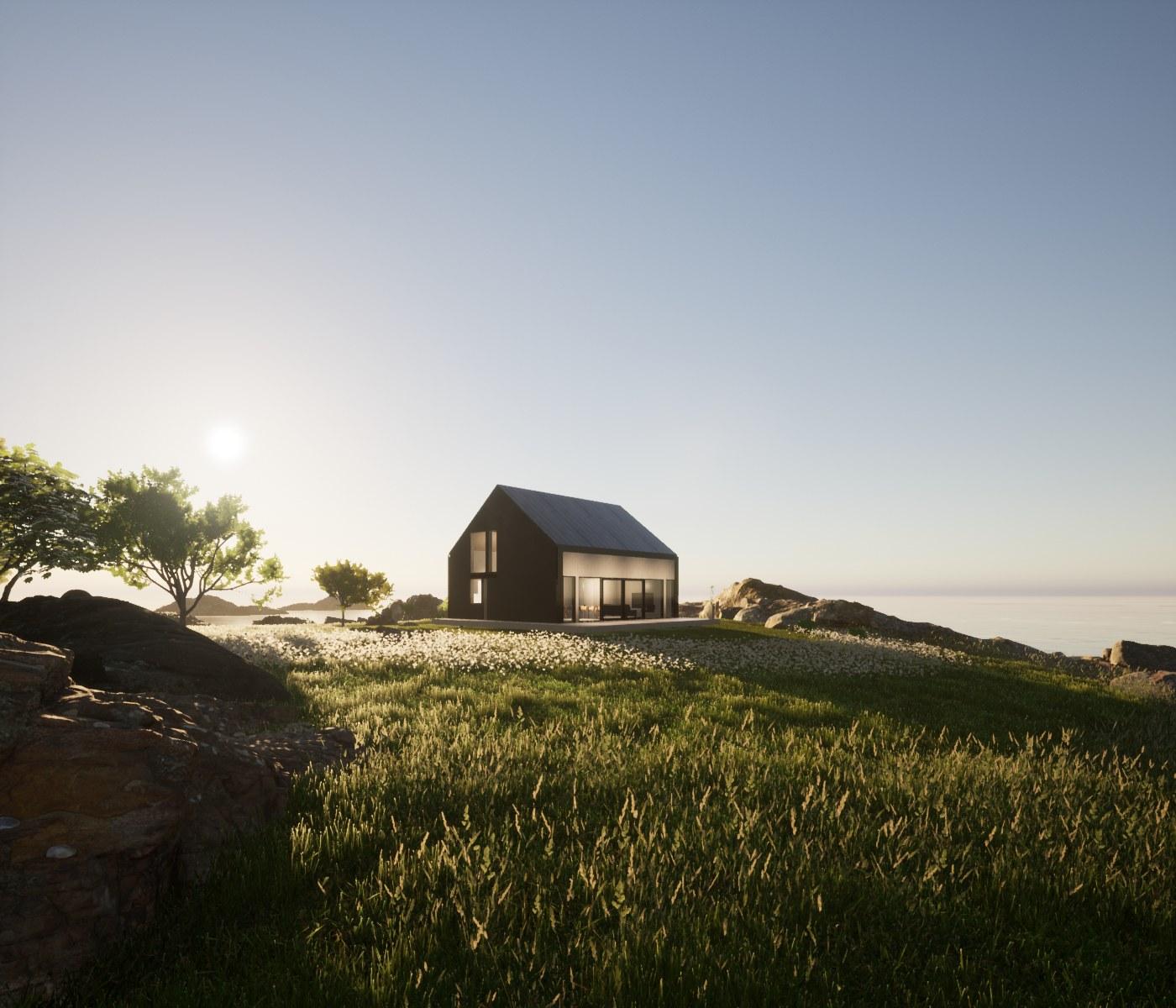Asumma homes are made of cross-laminated timber.