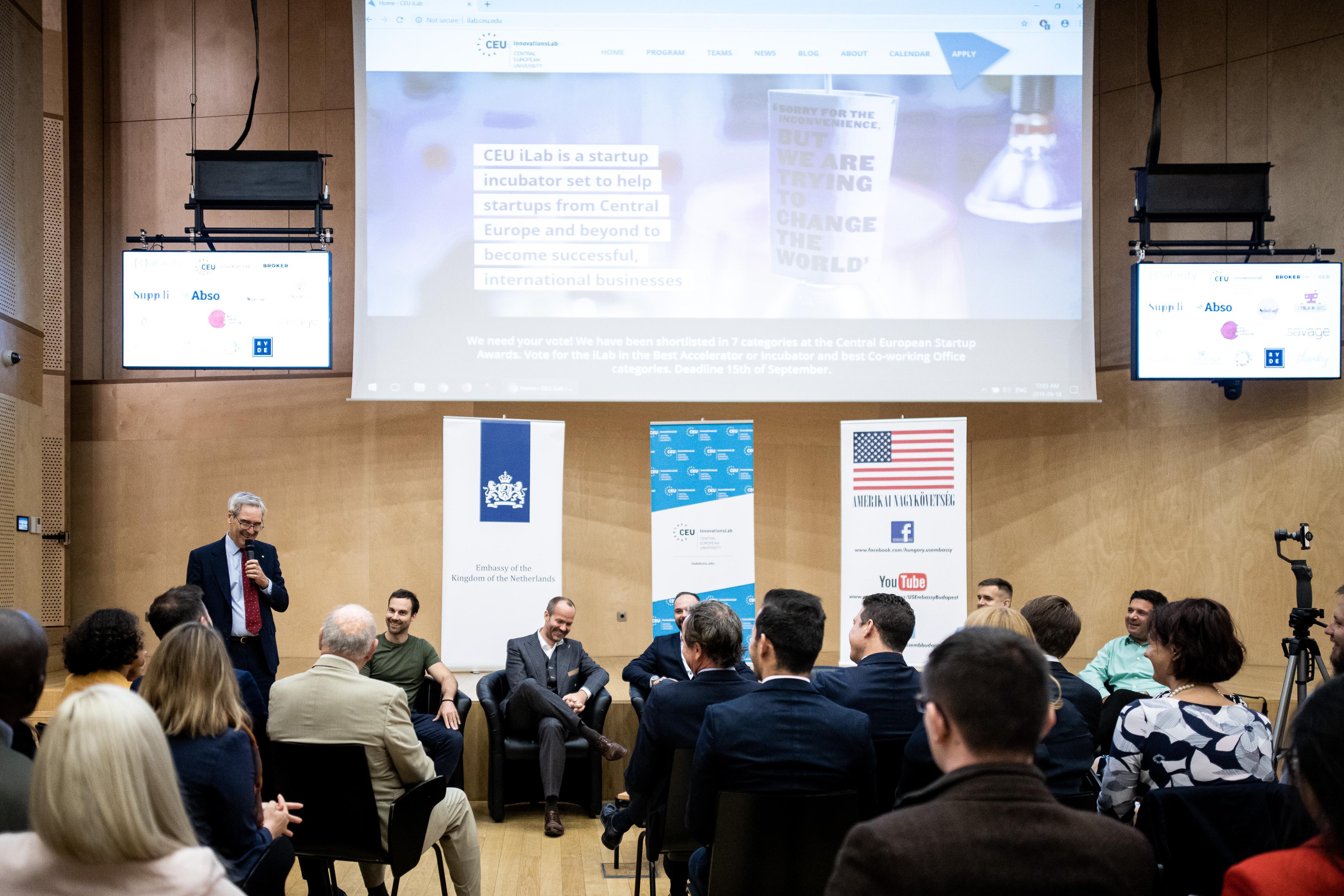 CEU President and Rector Michael Ignatieff welcomes the guests - Photo: CEU / Kepszerkesztoseg (Andras Dimeny)