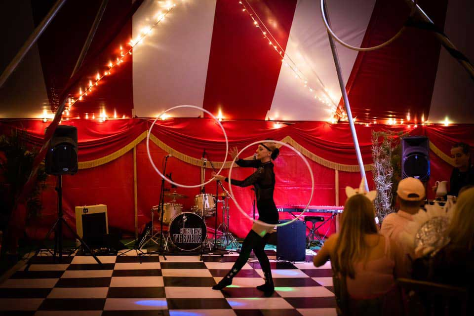 best circus theme party entertainers for hire in the uk