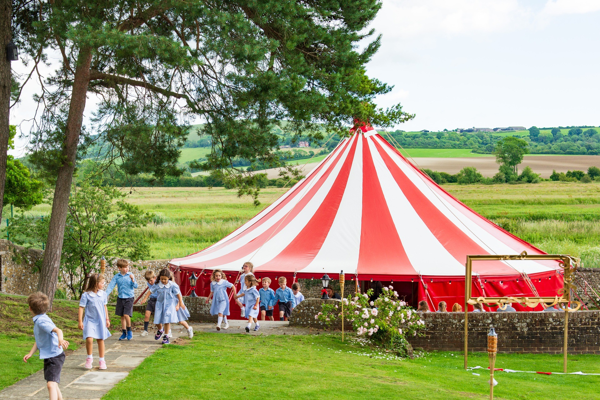 primary school circus event near Chichester, Hampshire