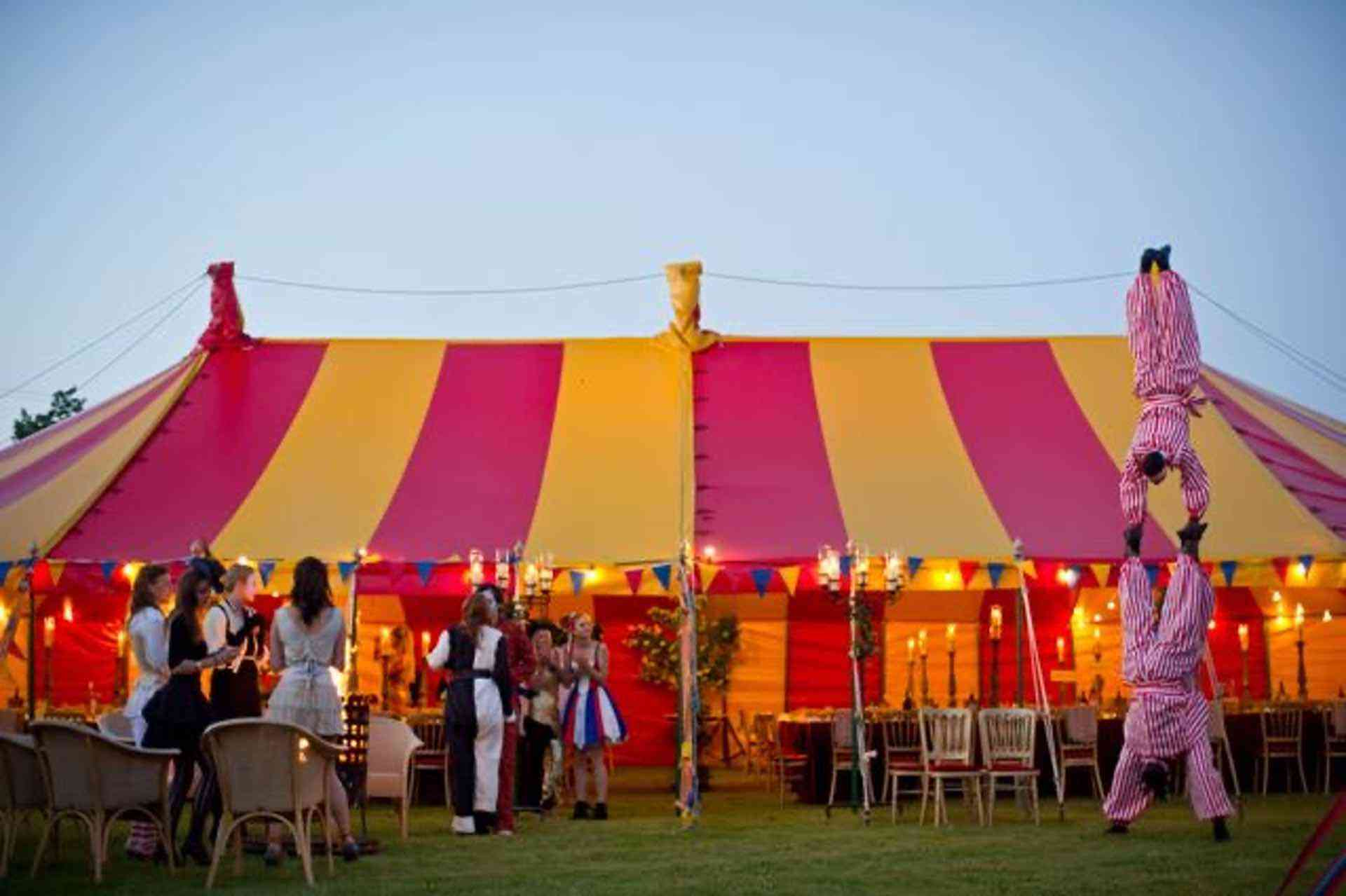 colourful marquee hire in wiltshire