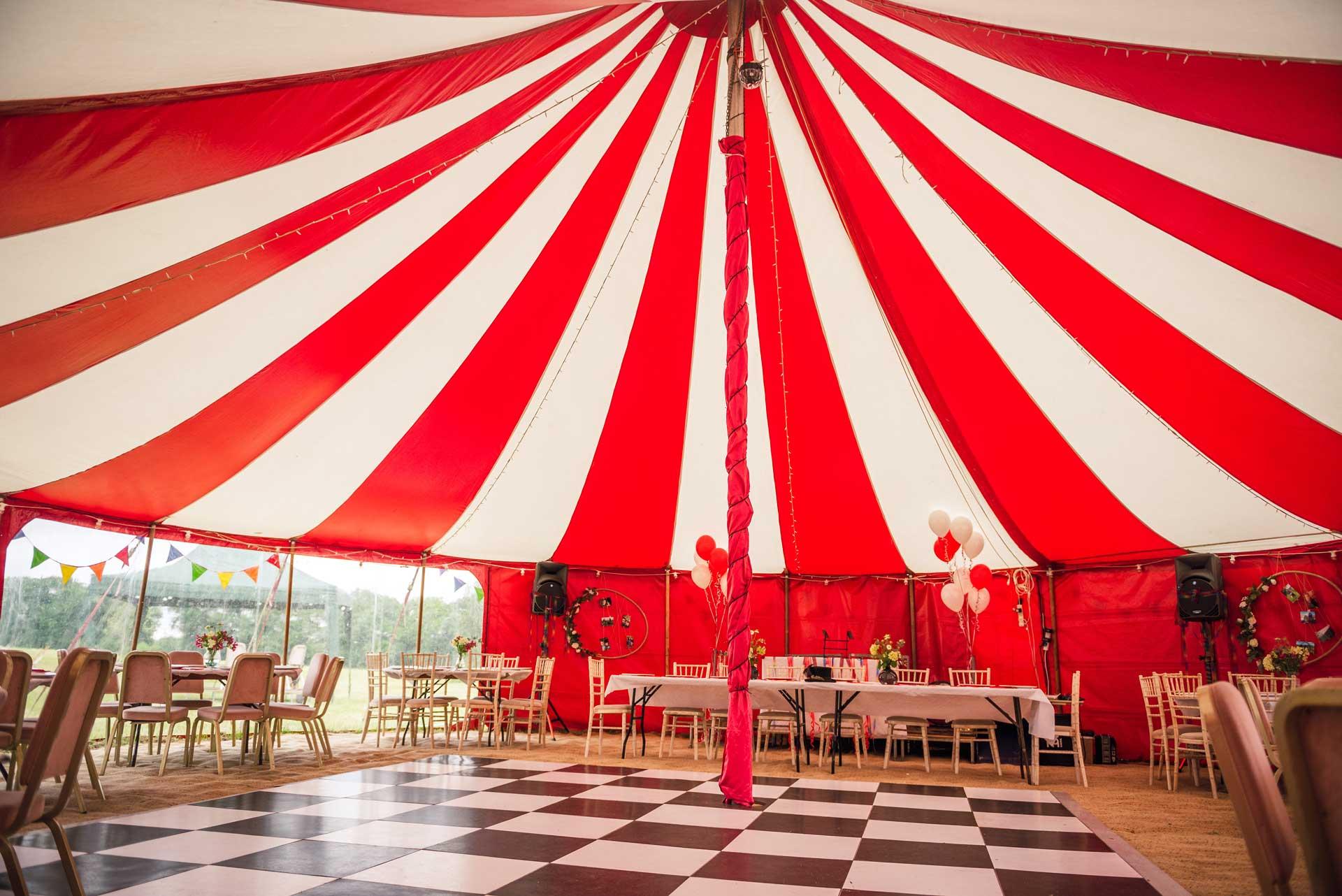 Circus wedding tent near Gloucester