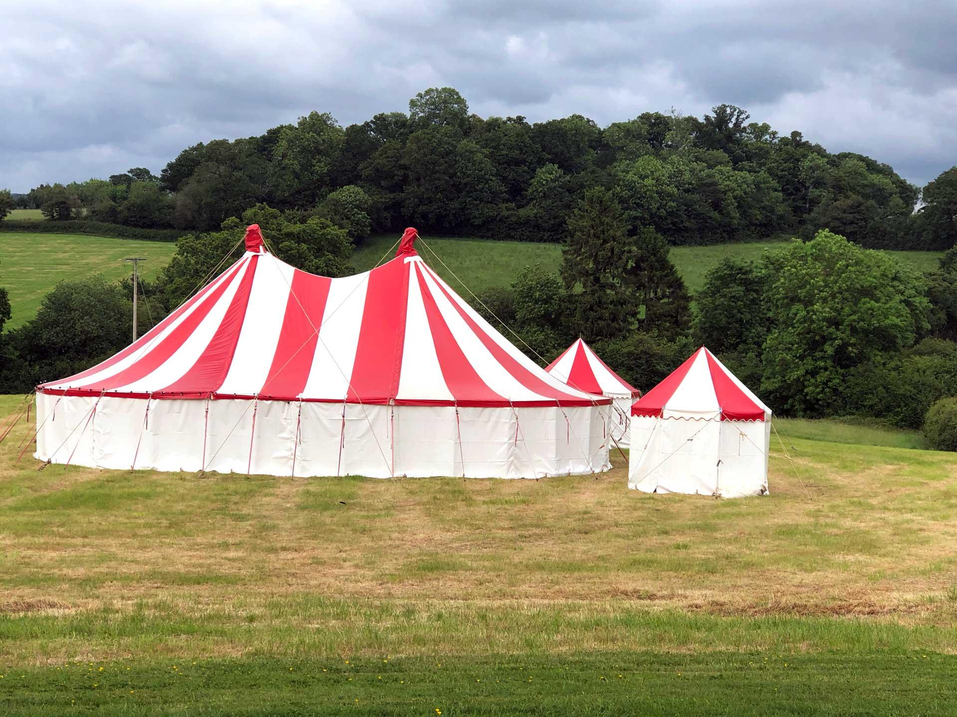 Circus tent hire Devon Cornwall