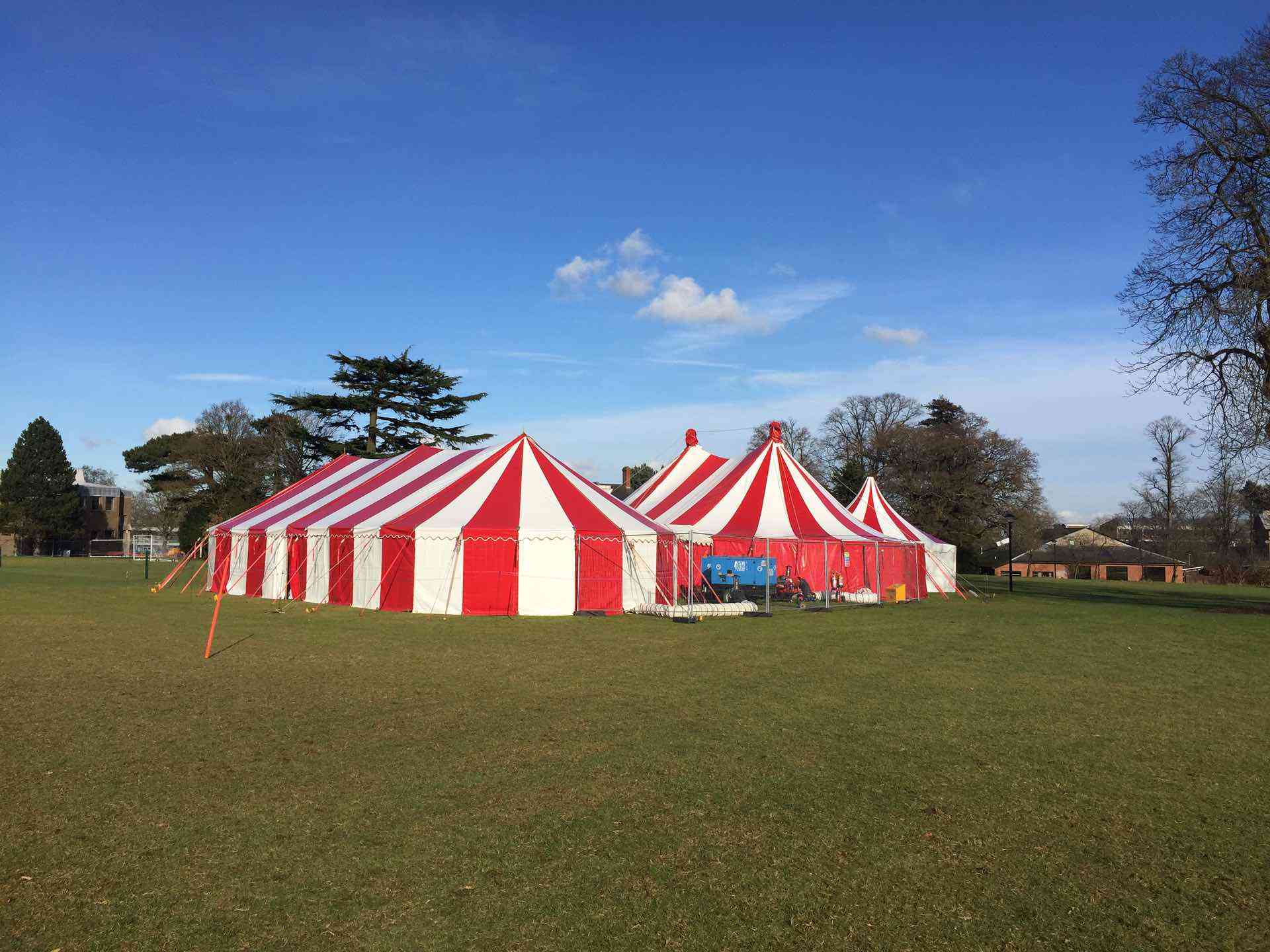 Red rock is a red & white service tent for hire