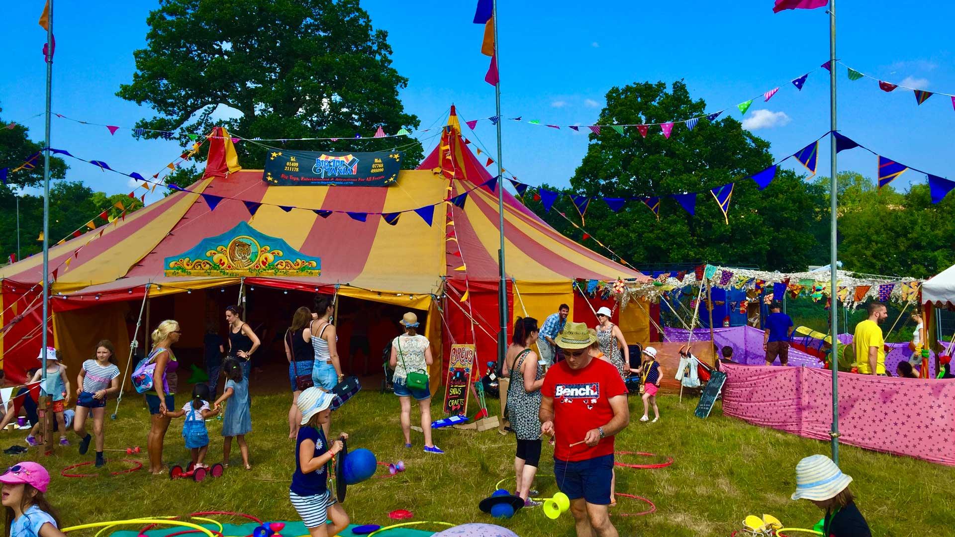 Festival children's play area Dorset