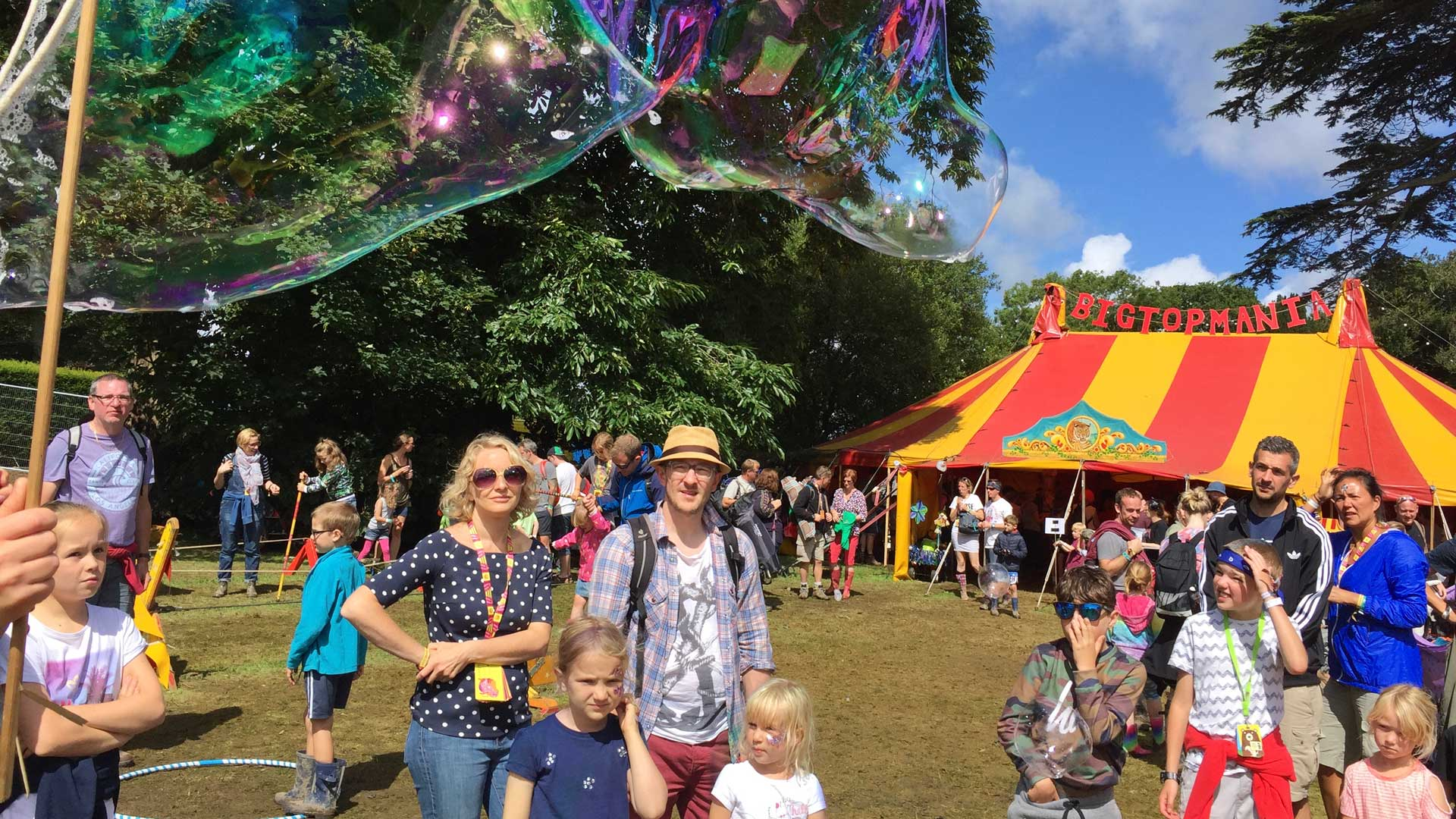 Camp Bestival Dorothy in the Bigtopmania children's area Dorset