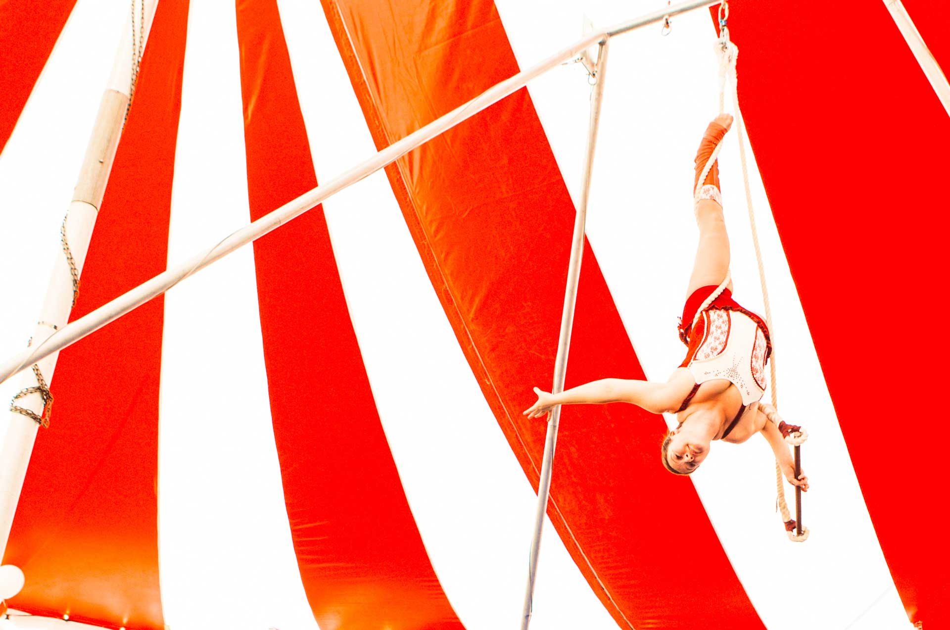 aerial circus show hire for events in the uk