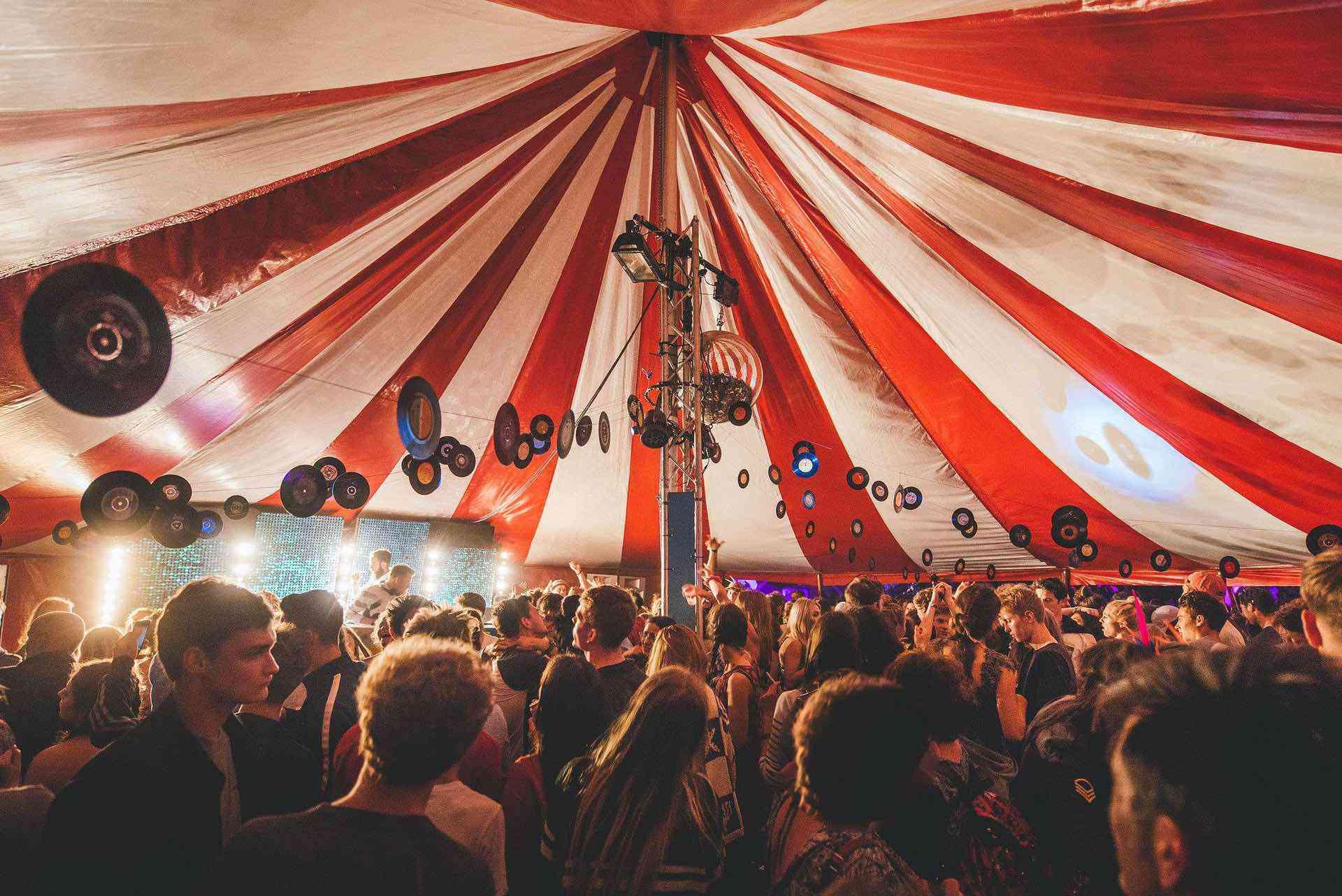 Port Eliot festival dance tent venue.