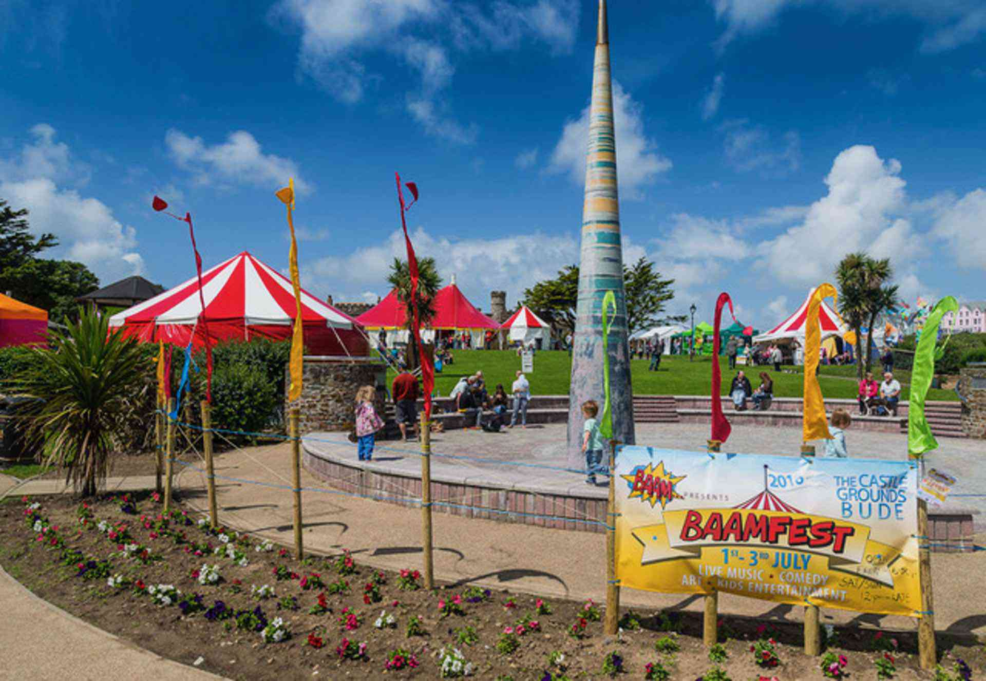 Big tops at festival in Bude town centre