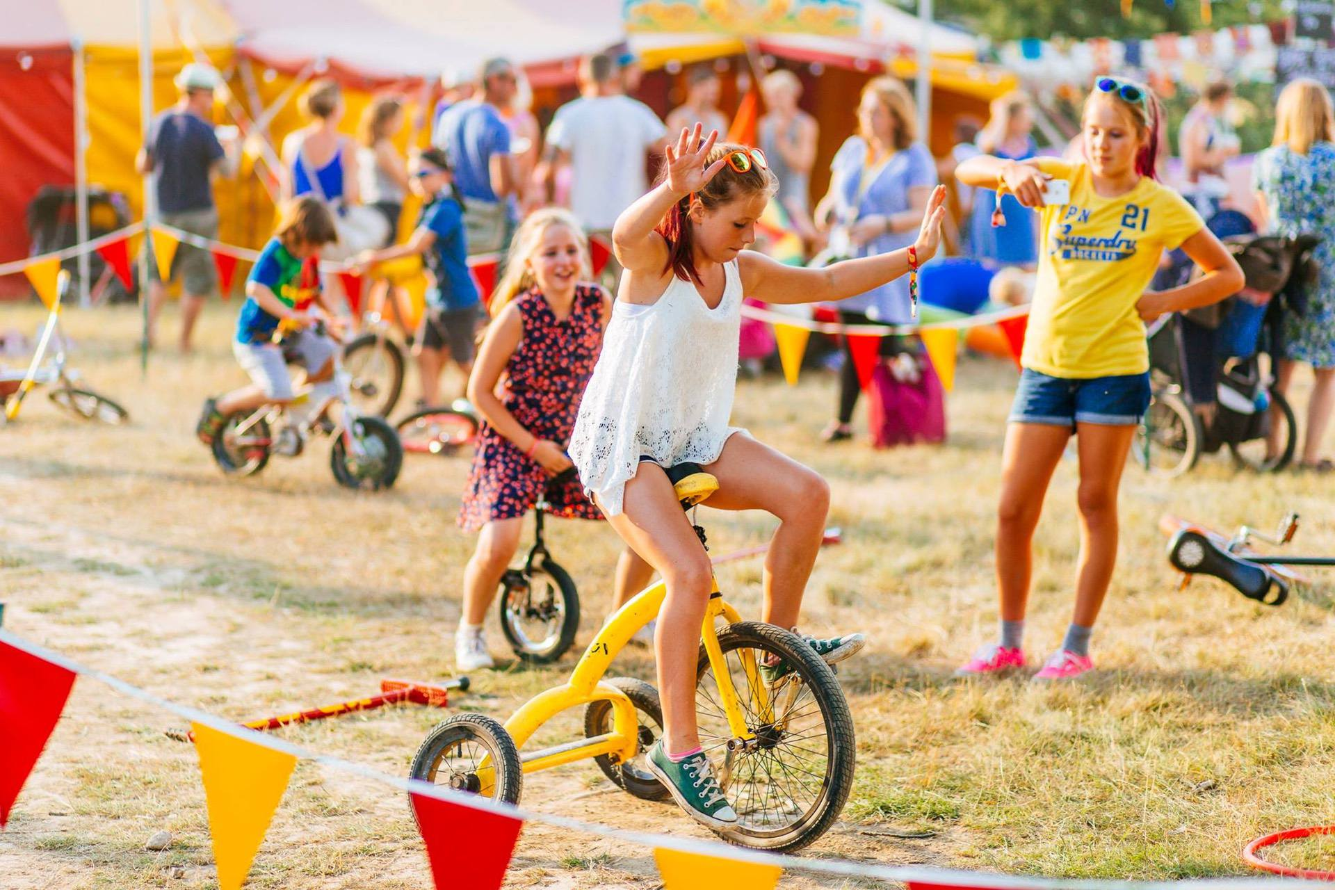 Crazy bikes at the best festival event childrens entertainment area supplier in the uk