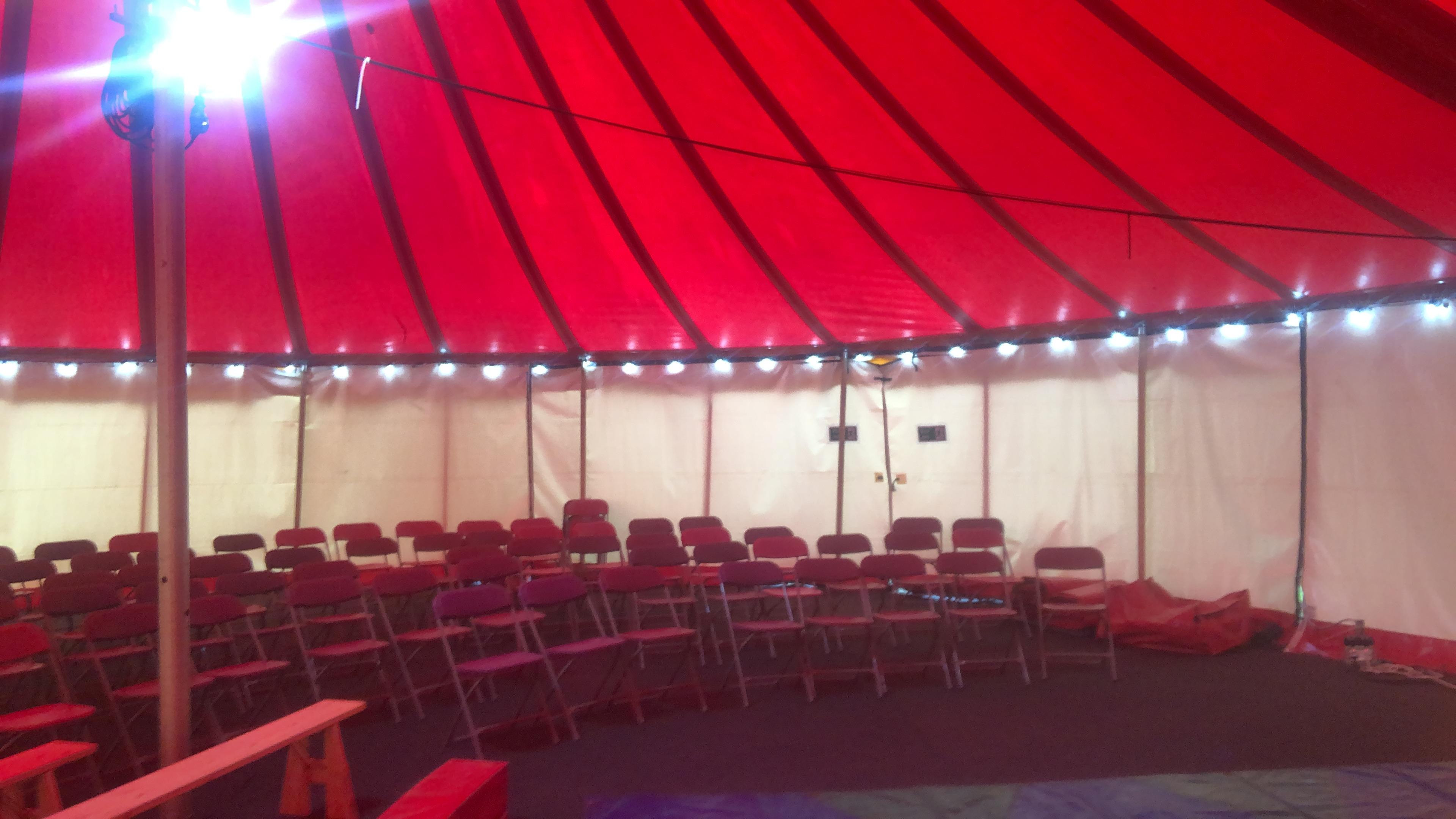 Big top circus show tent