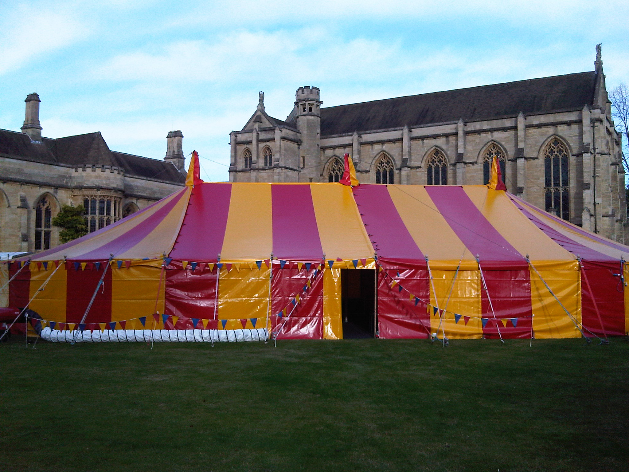 Red & yellow big top hire Oxford