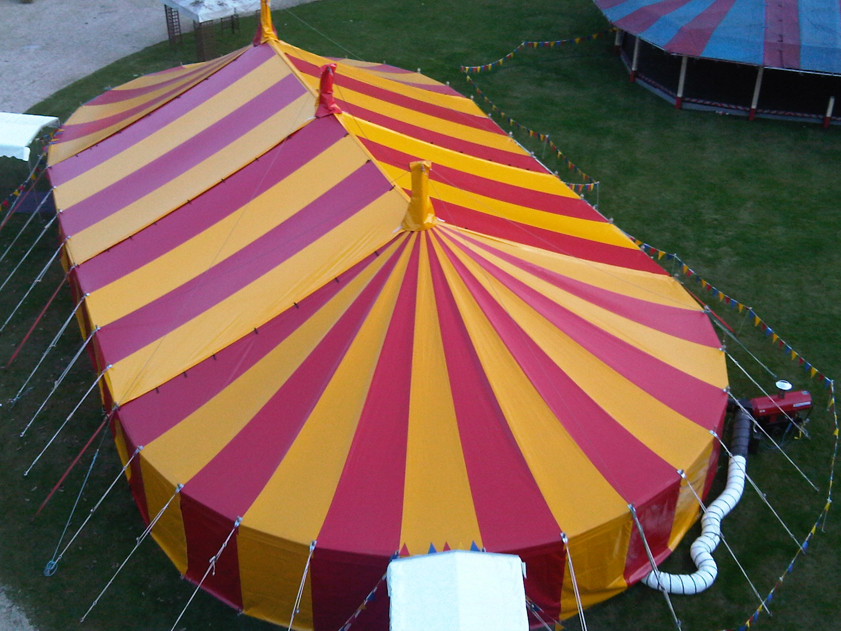 Red & yellow big top Oxfordshire