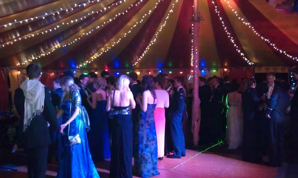 Military ball marquee hire Hampshire