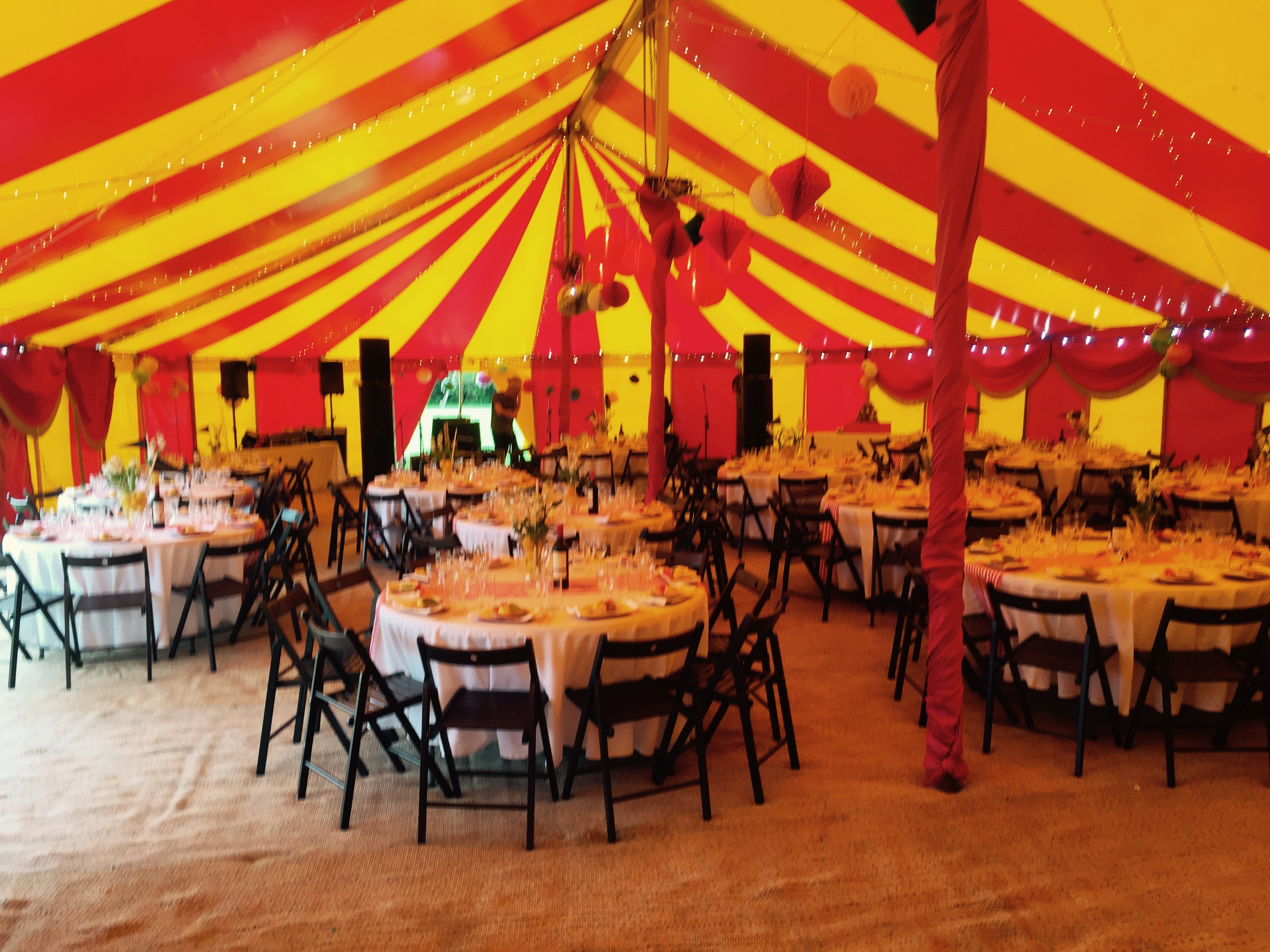 Wedding party marquee hire
