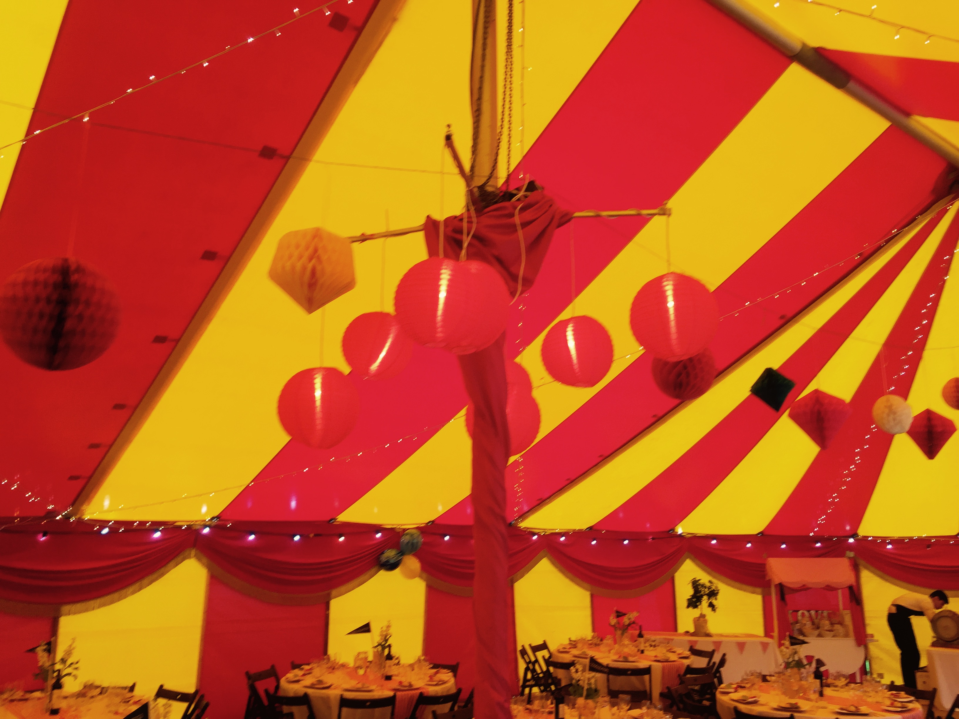 Wedding marquee lighting option