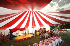 Childs circus theme birthday party tent