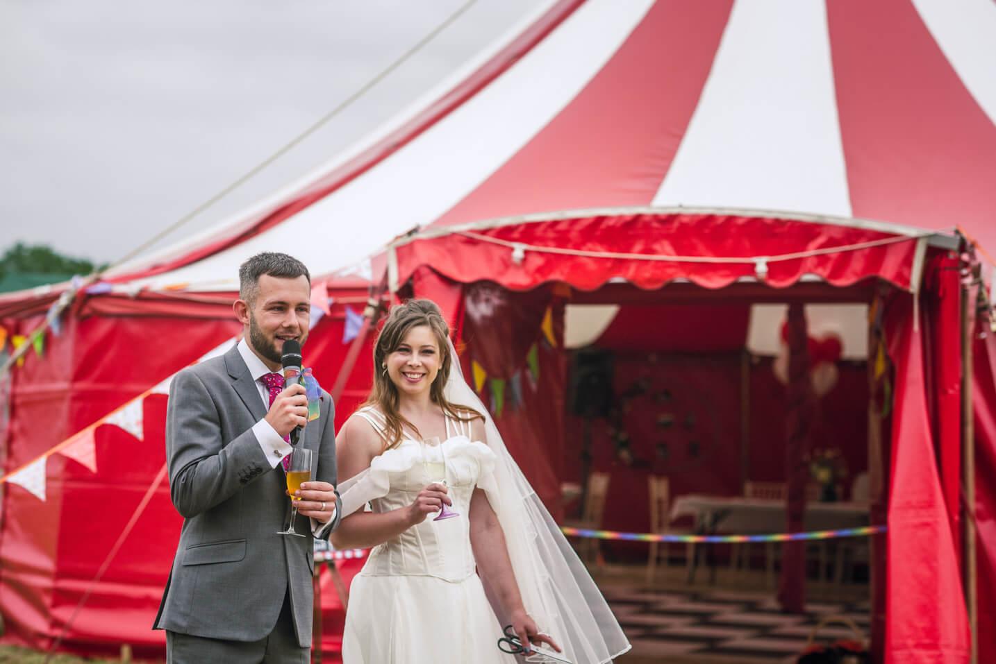 Big Top wedding tent