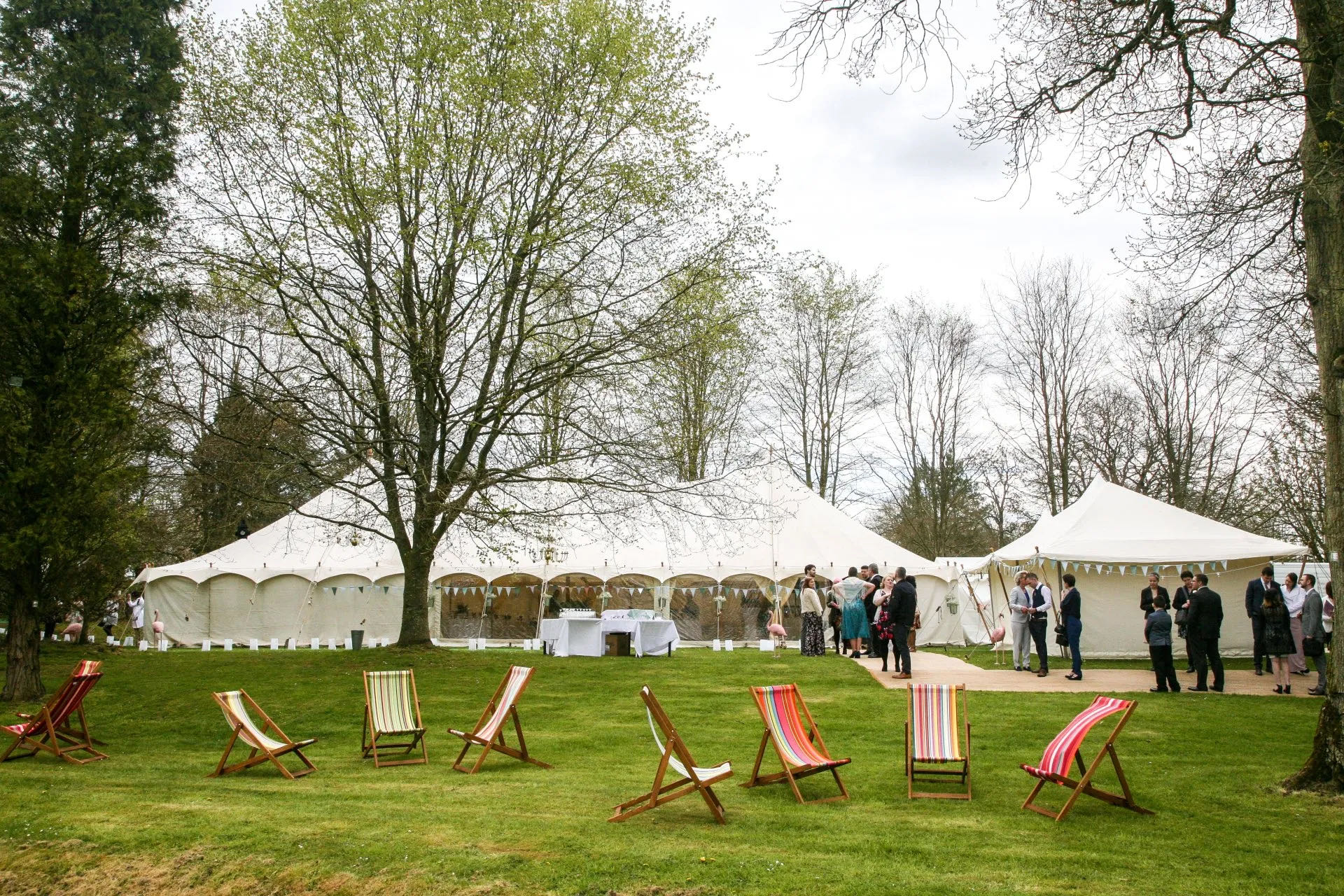 Petal pole tent wedding marquee hire Cotswolds
