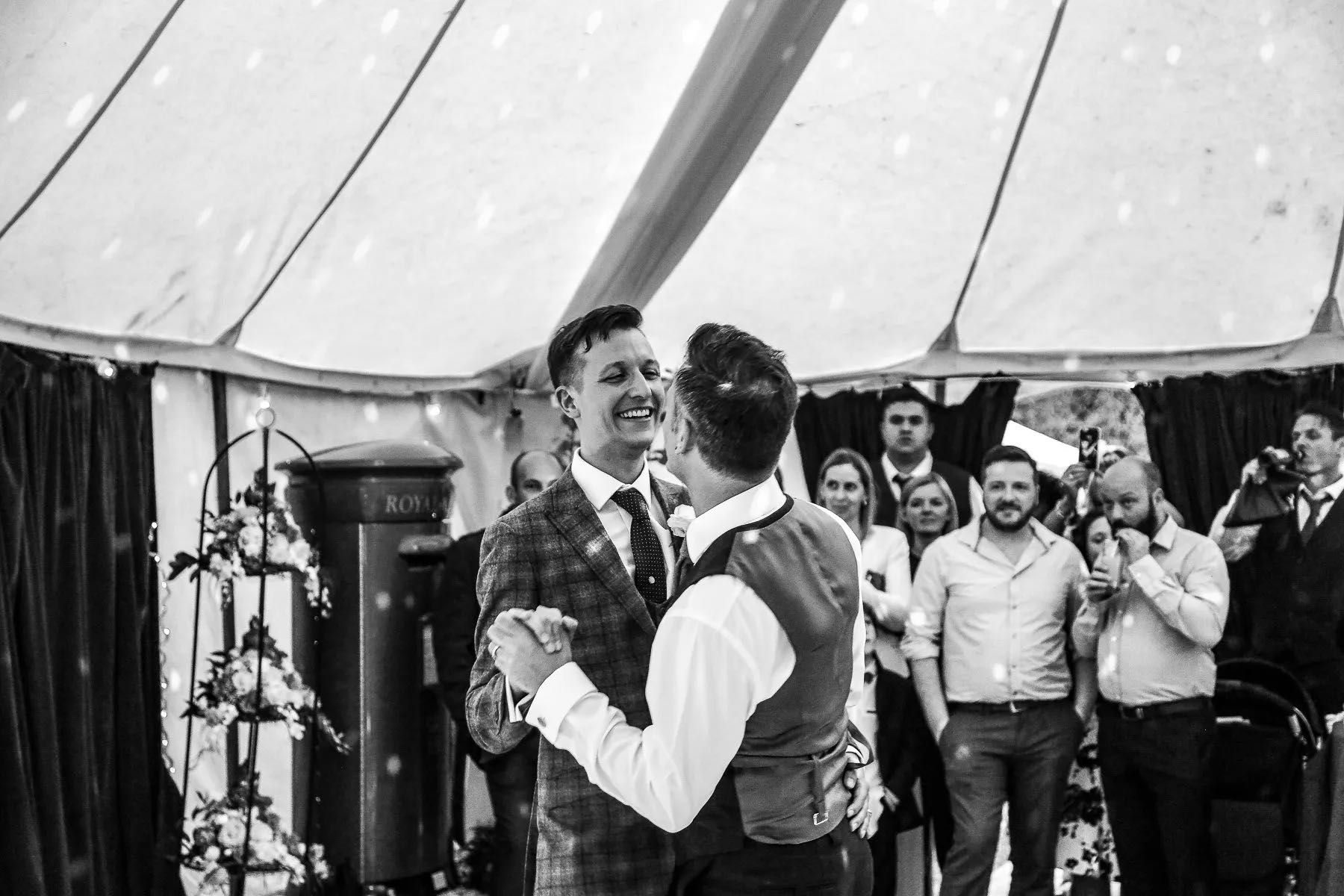 Same-sex wedding marquee supplier near Bristol