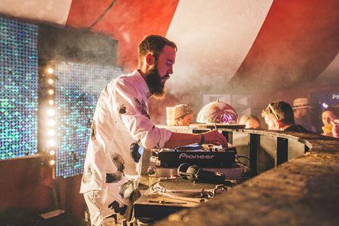 DJ booth Port Elliot festival Cornwall