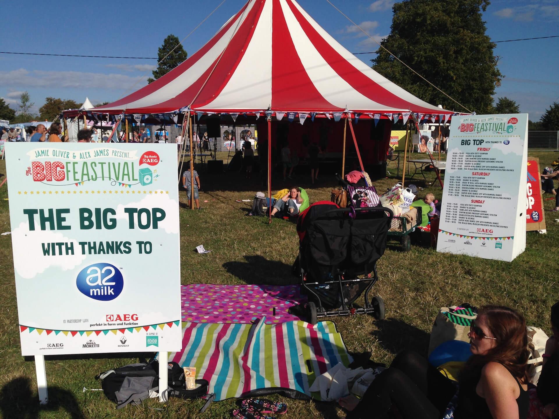The Big Feastival children's tent Oxfordshire