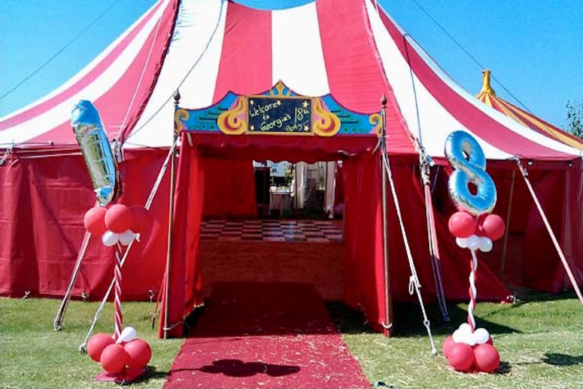 18th birthday party marquee hire
