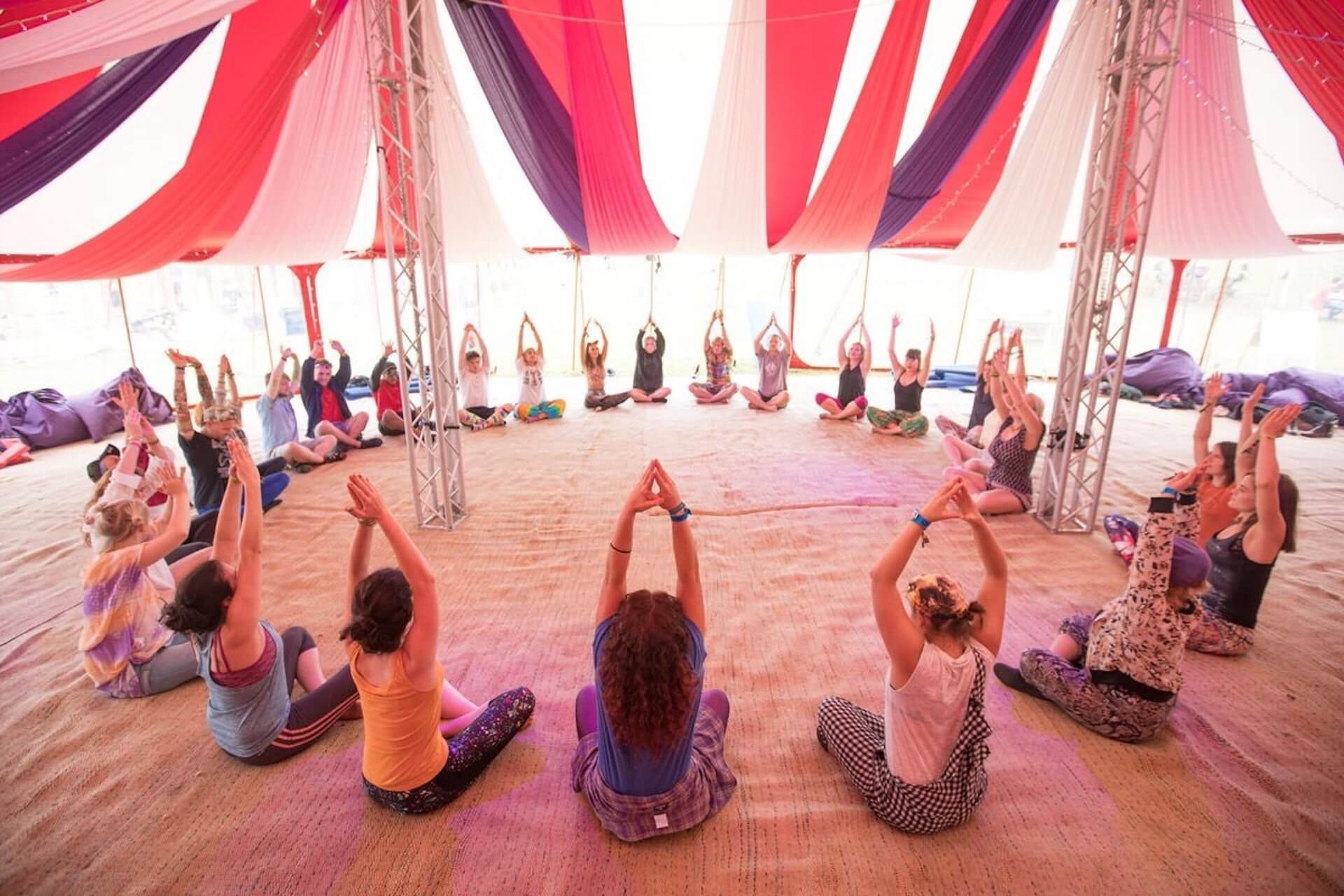 Festival yoga tent Dorset