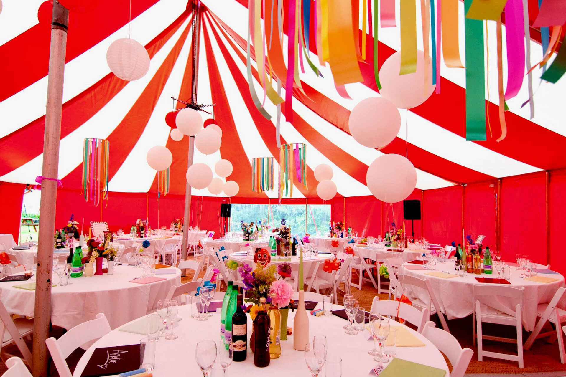 Circus theme dinner in Cornwall