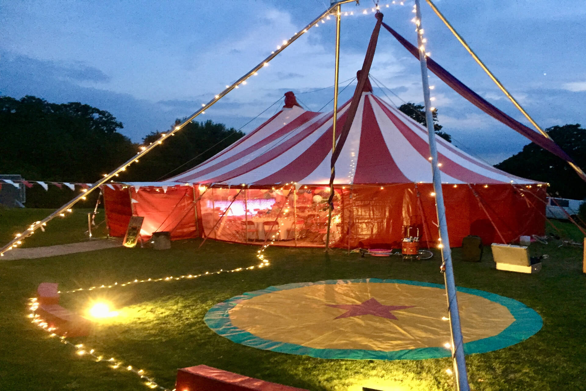 Adult circus theme party