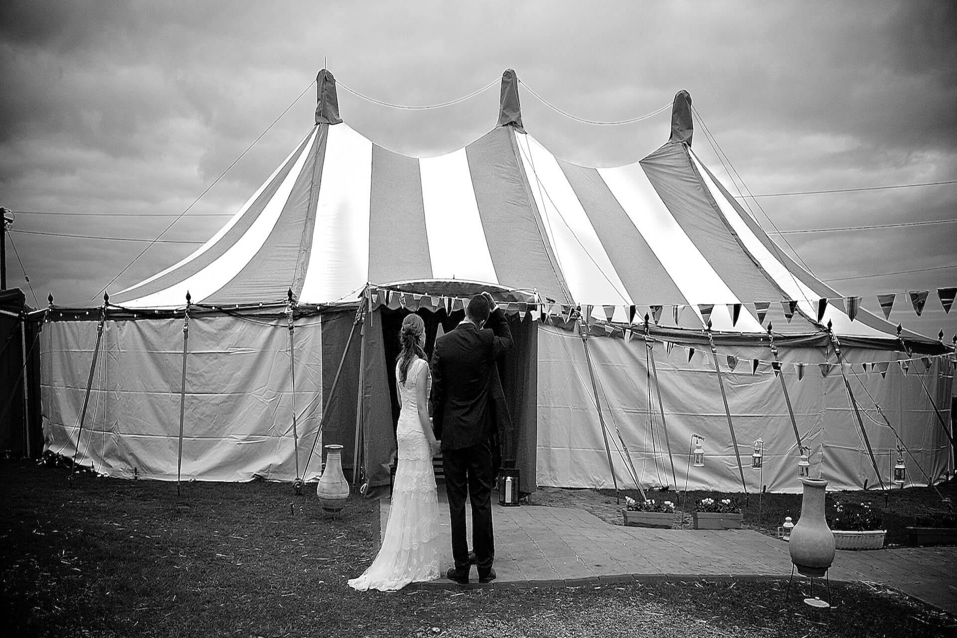 Irish circus wedding