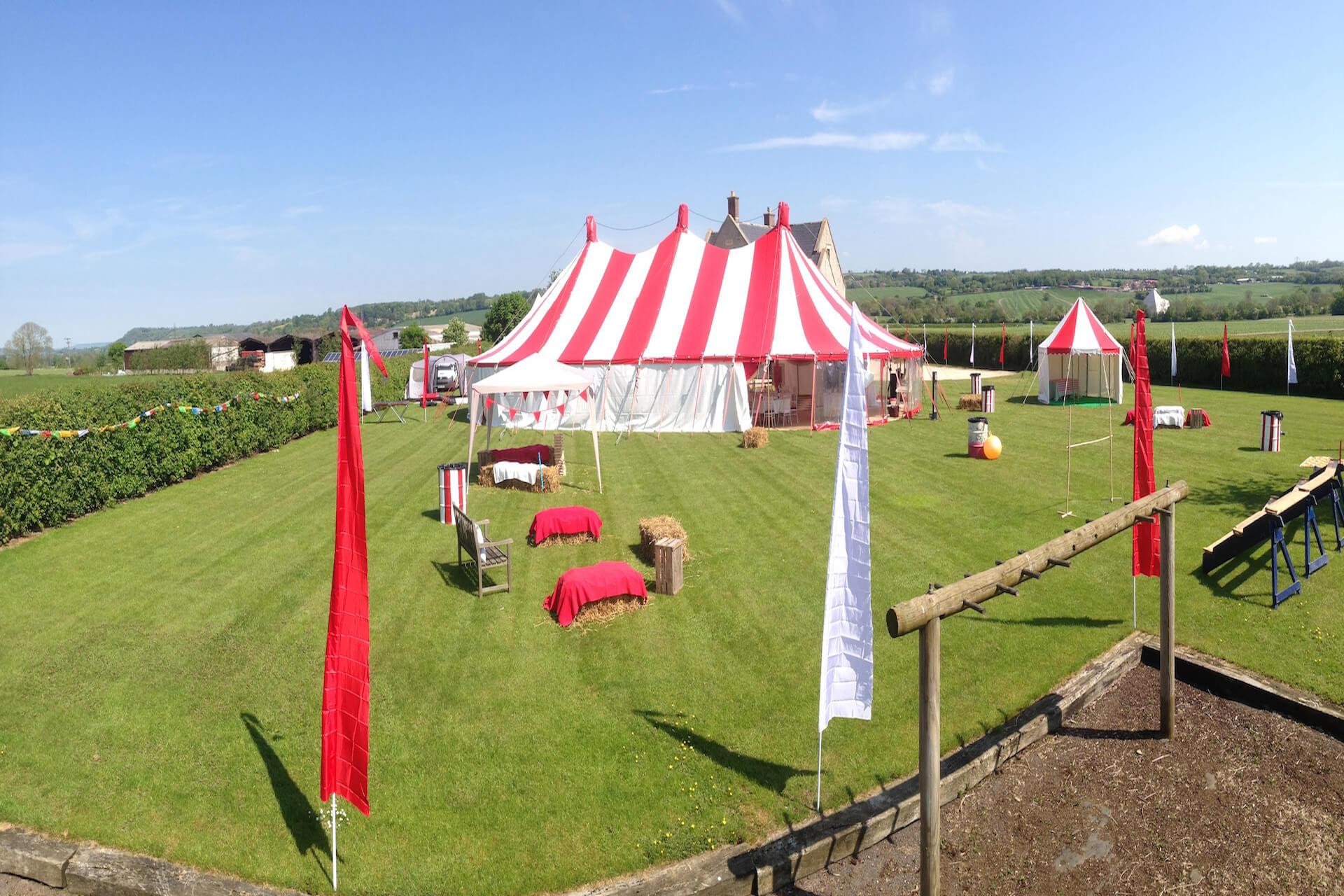 Festival wedding in Somerset