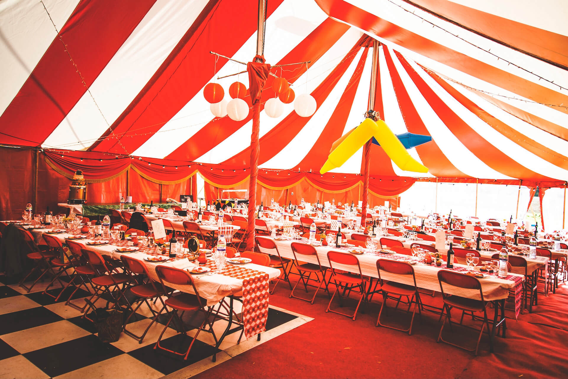 Festival wedding in Surrey
