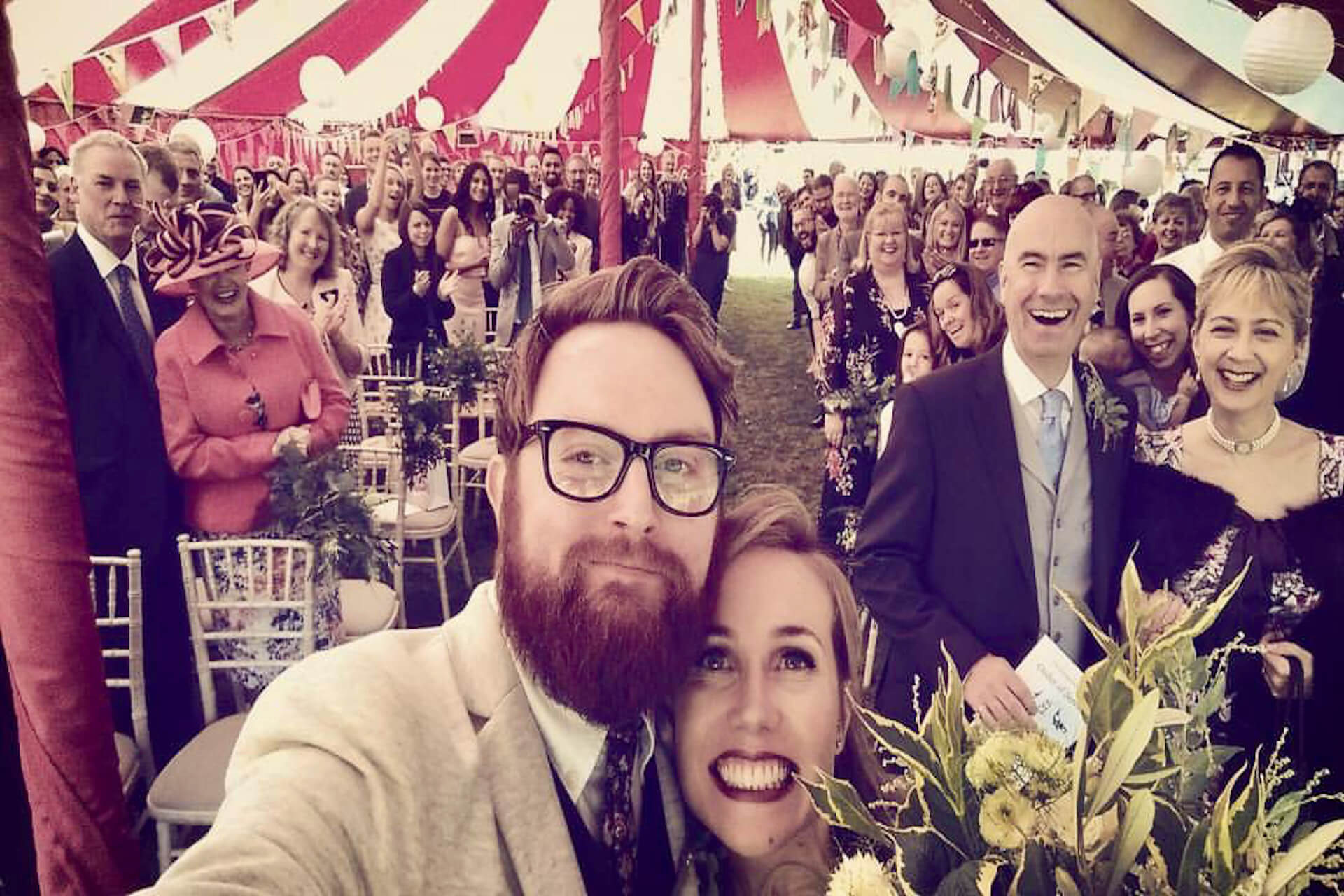 Getting married in a big top wedding tent