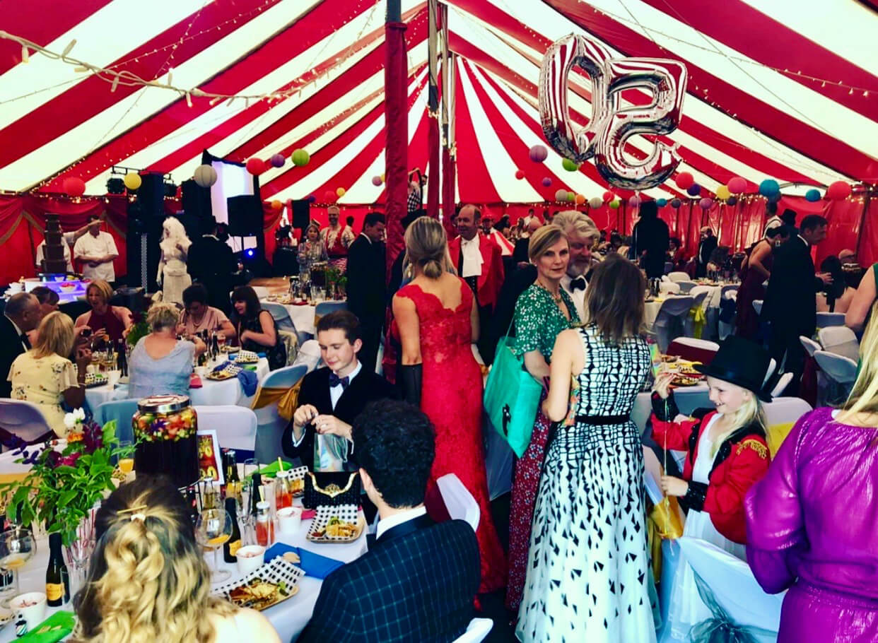 50th birthday party marquee