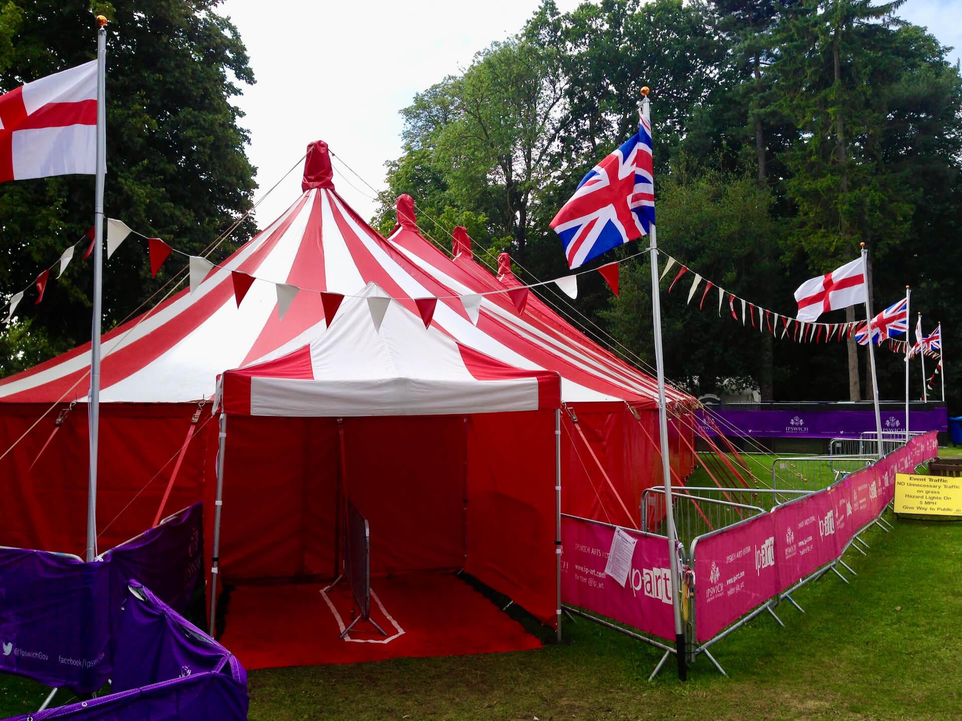 Patriotic tent hire