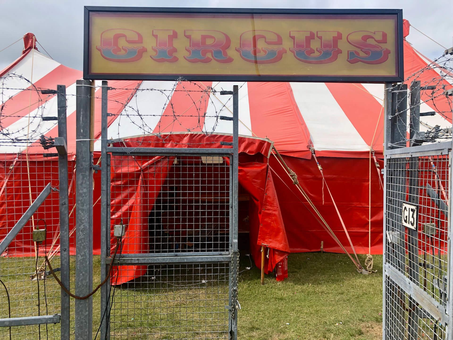 Circus show behind bars