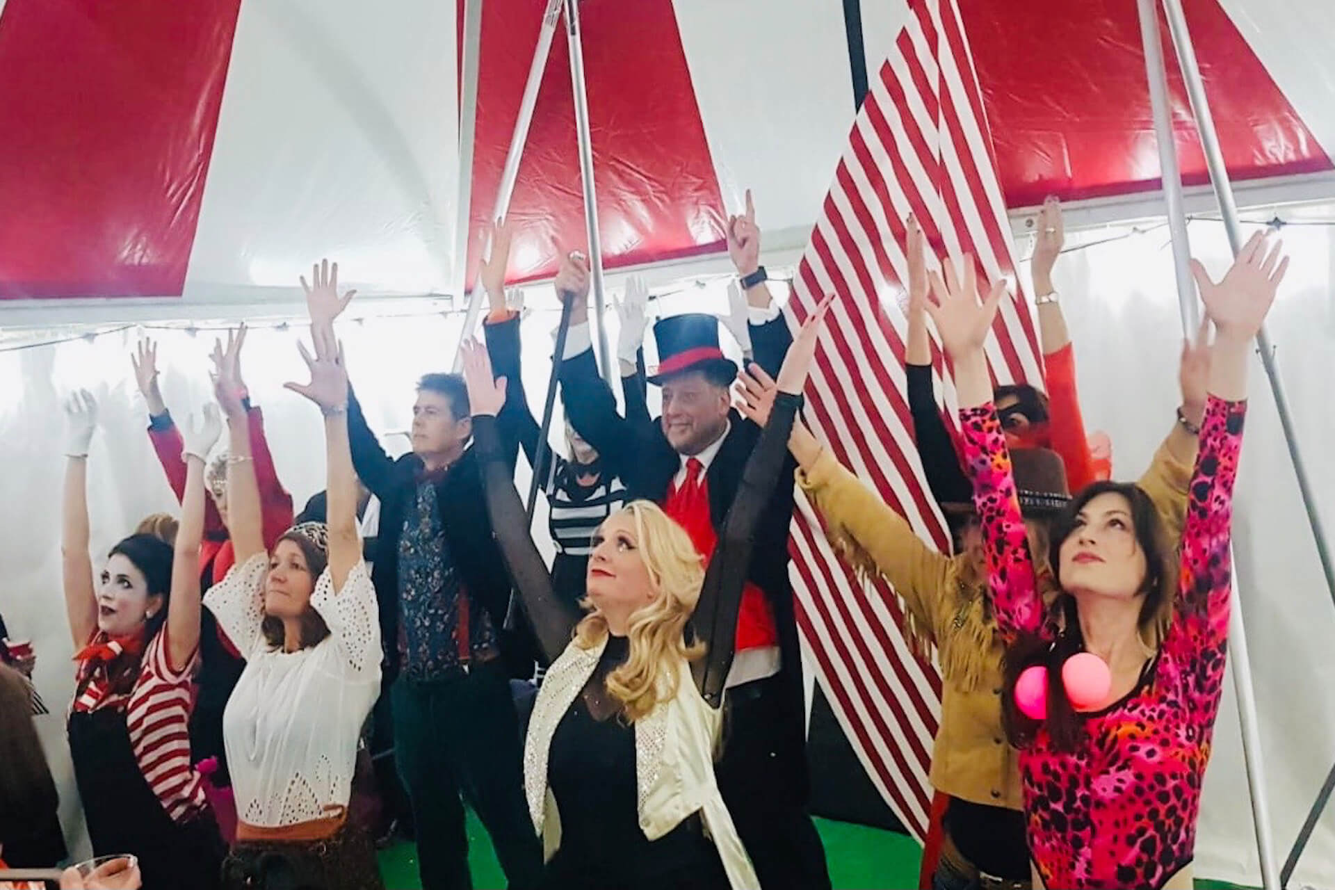 Private 'Greatest Showman' party tent
