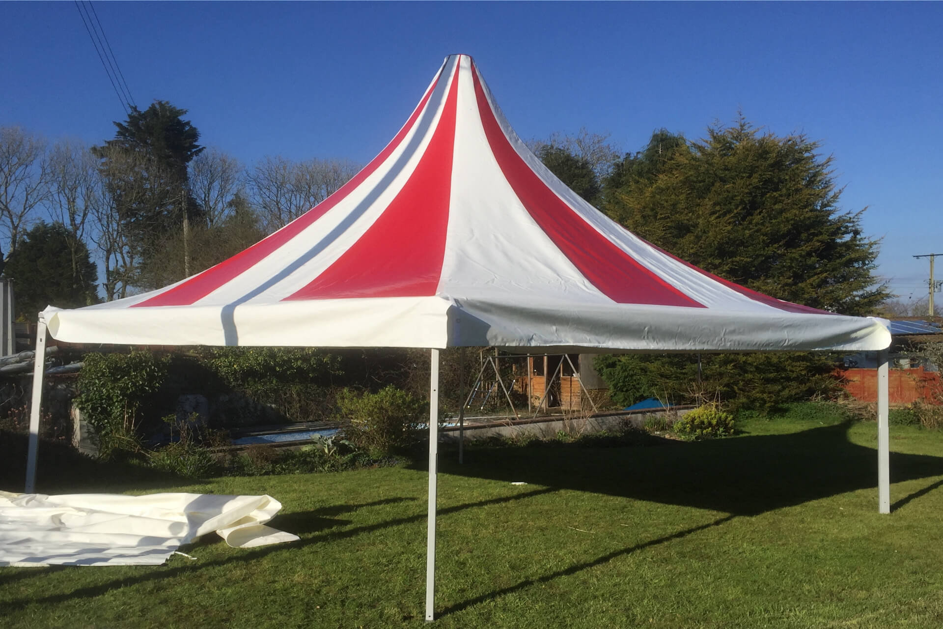 Garden party pagoda tent Oxfordshire